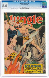Jungle Comics #81 Lost Valley Pedigree (Fiction House, 1946) CGC VF 8.0 Off-white to white pages