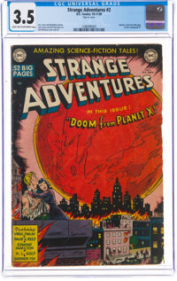 Strange Adventures #2 (DC, 1950) CGC VG- 3.5 Light tan to off-white pages