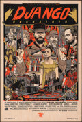 """Movie Posters:Western, Django Unchained, 6/55 by Tyler Stout (Mondo, 2013). Mint. Hand Numbered Variant Limited Edition Screen Print on Wood (36"""" X..."""