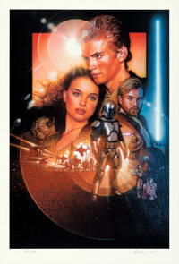 Star Wars: Episode II - Attack of the Clones by Drew Struzan (Lucasfilm, 2002). Near Mint+. Signed and Hand Numbered Art...