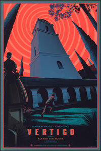 Vertigo, 94/375 by Laurent Durieux (Mondo, 2014). Near Mint. Hand Signed and Numbered Limited Edition Screen Print (36&q...