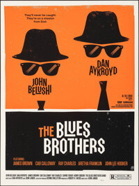 """The Blues Brothers, 4/75 by Olly Moss (Mondo, 2010). Mint. Hand Numbered Limited Edition Screen Print (24"""" X 18&quo..."""