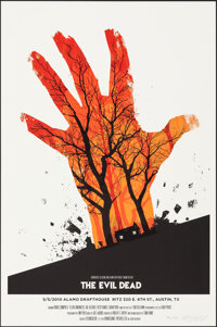 """The Evil Dead, 115/250 by Olly Moss (Mondo, 2010); Mint. Hand Signed and Numbered Limited Edition Screen Print (24""""..."""