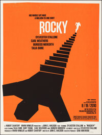 """Rocky, 252/350 by Olly Moss (Mondo, 2010). Mint. Hand Numbered Limited Edition Screen Print (24"""" X 18""""; 61 X 4..."""