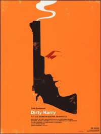 """Dirty Harry, 289/300 by Olly Moss (Mondo, 2010). Mint. Hand Numbered Limited Edition Screen Print (24"""" X 18"""";..."""