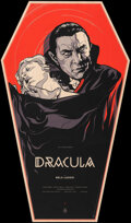 """Movie Posters:Horror, Dracula, 2/75 by Martin Ansin (Mondo, 2011). Mint. Hand Numbered Variant Limited Edition Screen Print on Wood (38.75"""" X 22.7..."""