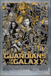 Guardians of the Galaxy, 1/01 by Tyler Stout (Mondo, 2014). Mint. Hand Numbered Variant Limited Edition Screen Print on...