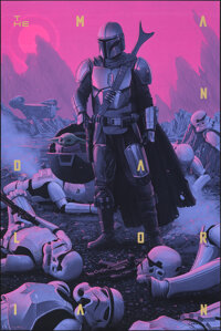 The Mandalorian, AP by Rory Kurtz (Mondo, 2020). Mint. Hand Signed Artists Proof of a Variant Limited Edition Screen Pos...