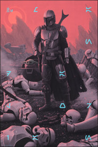 The Mandalorian, AP by Rory Kurtz (Mondo, 2021). Mint. Hand Signed Artists Proof of a Limited Edition Screen Print (36&q...