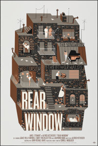 """Rear Window, 14/110 by Adam Simpson (Mondo, 2014). Mint. Hand Numbered Limited Edition Screen Print (36"""" X 24""""..."""