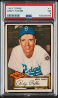Baseball Cards:Singles (1950-1959), 1952 Topps Andy Pafko (Red Back) #1 PSA VG 3....