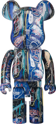 BE@RBRICK Jean-Michel Basquiat #7 1000%, 2021 Painted cast resin 27-1/2 x 14 x 9 inches (69.9 x