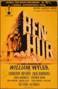 """Movie Posters:Academy Award Winners, Ben-Hur (MGM, 1960). Very Good/Fine on Cardstock. Autographed Trimmed Spanish One Sheet (25"""" X 38.5"""") Joseph Smith Artwork. ..."""