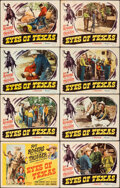 """Movie Posters:Western, Eyes of Texas (Republic, 1948). Fine/Very Fine. Lobby Card Set of 8 (11"""" X 14""""). Western.. ... (Total: 8 Items)"""