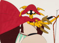 """Animation Art:Production Cel, Robot Carnival """"Chicken Man and Red Neck"""" Production Cel (A.P.P.P., 1987)...."""