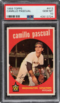 Baseball Cards:Singles (1950-1959), 1959 Topps Camillo Pascual #413 PSA Gem Mint 10 - Pop Two!...