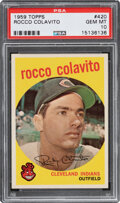 Baseball Cards:Singles (1950-1959), 1959 Topps Rocco Colavito #420 PSA Gem Mint 10 - Pop Two!...