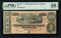 Confederate Notes:1864 Issues, T68 $10 1864 PF-42 Cr. 551 PMG Choice About Unc 58 EPQ.. ...