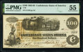 Confederate Notes:1862 Issues, T40 $100 1862 PF-1 Cr. 298 PMG About Uncirculated 55.. ...