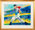 """Baseball Collectibles:Others, 1998 """"The DiMaggio Cut"""" Serigraph Signed by Joe DiMaggio & LeRoy Neiman...."""