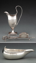 Silver & Vertu, Three English Silver Table Articles, London, 1780 and later. Marks to each: (lion passant), (crowned leopard's head), (vario... (Total: 3 )