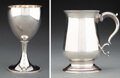 Silver & Vertu, Two Hester Bateman Silver Articles, London, 1783 and 1800. Marks to each: (lion passant), (crowned leopard's head), HB, (var... (Total: 2 )