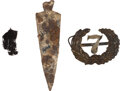 Militaria:Uniforms, [George Armstrong Custer]: Little Big Horn Battlefield Relics.... (Total: 3 Items)