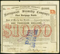 Obsoletes By State:Rhode Island, Providence, RI- Narragansett Steamship Company First Mortgage Bond $1,000 Apr. 17, 1869 Fine-Very Fine.. ...