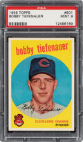 Baseball Cards:Singles (1950-1959), 1959 Topps Bobby Tiefenauer #501 PSA Mint 9 - Only One Hig...