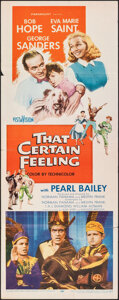 """Movie Posters:Comedy, That Certain Feeling & Other Lot (Paramount, 1956). Folded, Very Fine-. Inserts (2) (14"""" X 36""""). Comedy.. ... (Total: 2 Items)"""