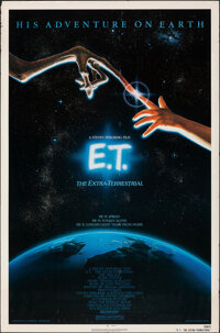 """E.T. The Extra-Terrestrial (Universal, 1982). Rolled, Fine+. One Sheet (27"""" X 41"""") John Alvin Artwork. Science..."""