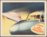 """Earth vs. the Flying Saucers (Columbia, 1956). Very Fine-. Lobby Card (11"""" X 14""""). Science Fiction"""