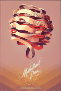 Mulholland Drive, 2/300 by Kevin Tong (Mondo, 2015). Mint. Hand Signed and Numbered Limited Edition Screen Print (36&quo...