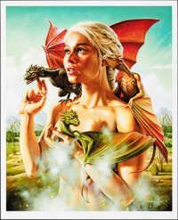 Game of Thrones, Mother of Dragons, 7/75 by Jason Edmiston (Mondo, 2013). Mint. Hand Numbered Limited Edition Screen Pri...