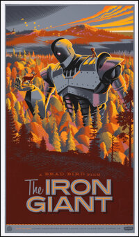 """The Iron Giant, 4/425 by Laurent Durieux (Mondo, 2012). Near Mint. Hand Numbered Limited Edition Screen Print (36""""..."""