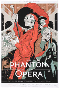 The Phantom of the Opera, 16/25 by Martin Ansin (Mondo, 2009). Mint. Hand Signed and Numbered Variant Limited Edition Sc...