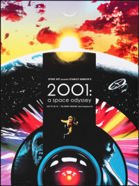 2001: A Space Odyssey, PP 1/10 by Joshua Budich (Spoke Art, 2019). Mint. Hand Signed and Numbered Printer's Proof of a L...