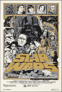 Star Wars, 9/25 by Tyler Stout (Mondo, 2010); Mint. Hand Signed and Numbered Artist's Proof of a Limited Edition Screen...