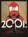 Movie Posters:Science Fiction, 2001: A Space Odyssey, 33/50 by Tracie Ching (Spoke Art, 2016). Mint. Hand Signed and Numbered Foil Variant Limited Edition ...