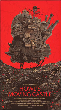 """Howl's Moving Castle, 242/430 by Olly Moss (Mondo, 2013). Mint. Hand Numbered Limited Edition Screen Print (36"""" X 2..."""