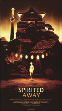 """Spirited Away, 242/430 by Olly Moss (Mondo, 2013). Near Mint. Hand Numbered Limited Edition Screen Print (36"""" X 20&..."""