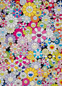 Takashi Murakami (b. 1962) An Homage to Yves Klein Multicolor B, 2012 Offset lithograph in colors on