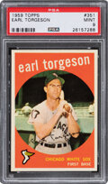 Baseball Cards:Singles (1950-1959), 1959 Topps Earl Torgeson #351 PSA Mint 9 - Pop Three, None...