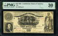 Confederate Notes:1861 Issues, T30 $10 1861 PF-1 Cr. 238 PMG Very Fine 30.. ...
