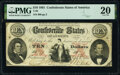 Confederate Notes:1861 Issues, T26 $10 1861 PF-4 Cr. UNL PMG Very Fine 20.. ...