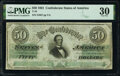 Confederate Notes:1861 Issues, T16 $50 1861 PF-7 Cr. 87 PMG Very Fine 30.. ...