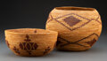 American Indian Art:Baskets, Two Yokuts Coiled Bowls... (Total: 2 )
