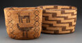 American Indian Art:Baskets, Two Pima Coiled Baskets... (Total: 2 )