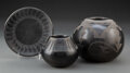 American Indian Art:Pottery, Three San Ildefonso Pottery Items... (Total: 3 )