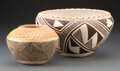 American Indian Art:Pottery, Two Acoma Polychrome Jars... (Total: 2 )